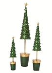 Plain Scalloped Topiary Tree w/Star (Evergreen)