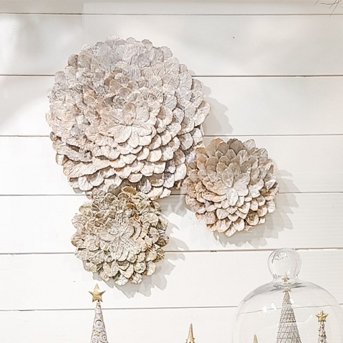 Butterfly Leaf Wall Hanging (Natural White Wash)