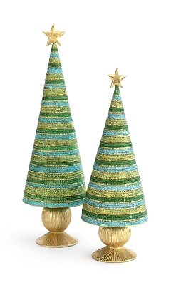 Horizontal Bonbon Tree w/Star (Evergreen)