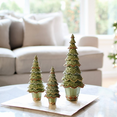 Layered Beaded Neo Cone Tree (Green Dream)