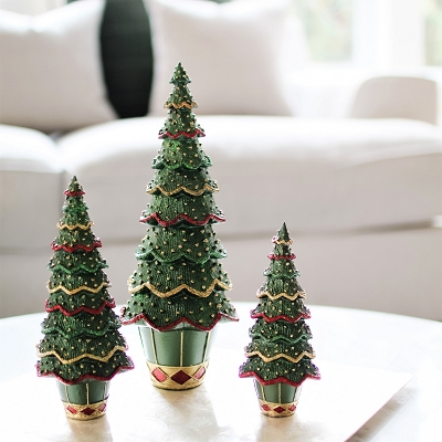 Layered Beaded Neo Cone Tree (Trad. Green)