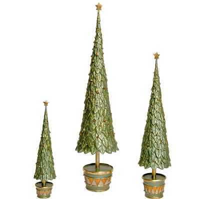 Neo Holly Topiary Tree w/Star (Green Dream)