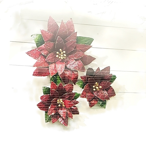Poinsettia Wall Decor (Red)
