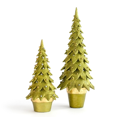 Tannenbaum Cone Tree (Lime/Gold)